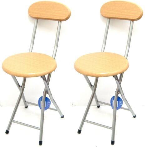 2 x Children/'s Folding High Chair Breakfast Kitchen Bar Stool Seat Back Rest New