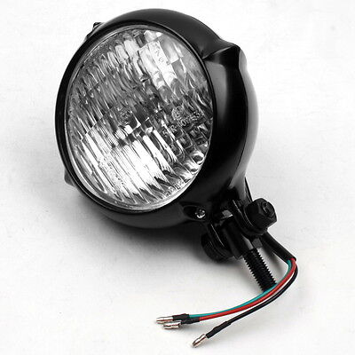 Black Motorcycle Head Light for Harley Bobber Chopper Sportster Custom Softail