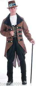 NEW-MENS-STEAMPUNK-VICTORIAN-SCI-FI-FANCY-DRESS-COSTUME-TAILCOAT-WAISTCOAT-JABOT