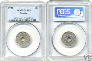 III Republic (1871-1940) 10 Cents Lindauer 1931 PCGS Ms 65
