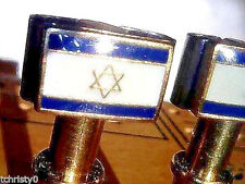 2-Quailty Israel Flag Metal Cribbage Board Pegs  With FREE Black Velvet Pouch
