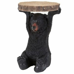 Remarkable Details About Bear Patio Side Table Realistic Black Bear Cabin Decoration Indoor Outdoor Table Download Free Architecture Designs Boapuretrmadebymaigaardcom