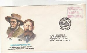 republic of south africa 1988 atm stamps cover ref 19183