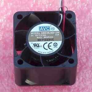 AVC 38x28mm BALL BEARING FAN 12V DC BRUSHLESS / TACH 0.3A 12.46CFM 44dB 3 WIRE †