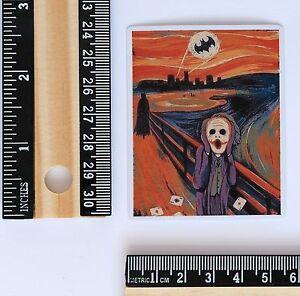 Details About Scream Painting Batman Joker Edvard Munch Parody Art 6x6cm Decal Sticker 2701