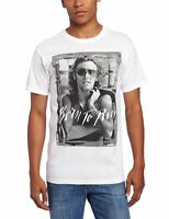 Official Bruce Springsteen - Born To Run - Men's White T-Shirt IMPORT