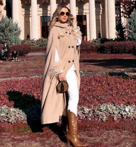 ZARA-edition-limitee-creme-Camel-Long-Cape-manteau-taille-S-bloggers-favorite
