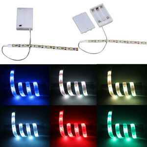4 5v Battery Operated 50 500cm Led Strip Light Waterproof