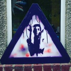 original graffiti art . Altered #streetsign featuring Prince Rogers Nelson