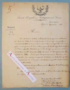 L-A-S-1841-Societe-Royale-des-Antiquaires-de-France-LAVILLEGILLE-Poitiers-lettre