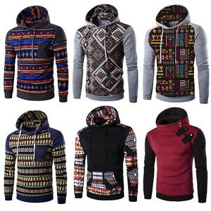 Men's Winter Slim Hoodie Warm Hooded Sweatshirt Coat Jacket Outwear Sweater Plus