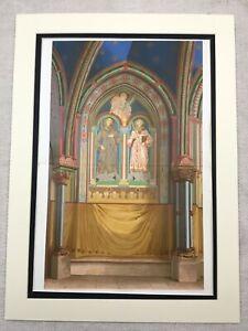 1857-Print-St-Gereon-Basilica-Cologne-Architectural-Antique-Chromolithograph