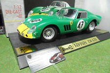 RARE FERRARI 250 GTO 1962 # 47 vert et jaune 1/12 REVELL 08852 voiture miniature