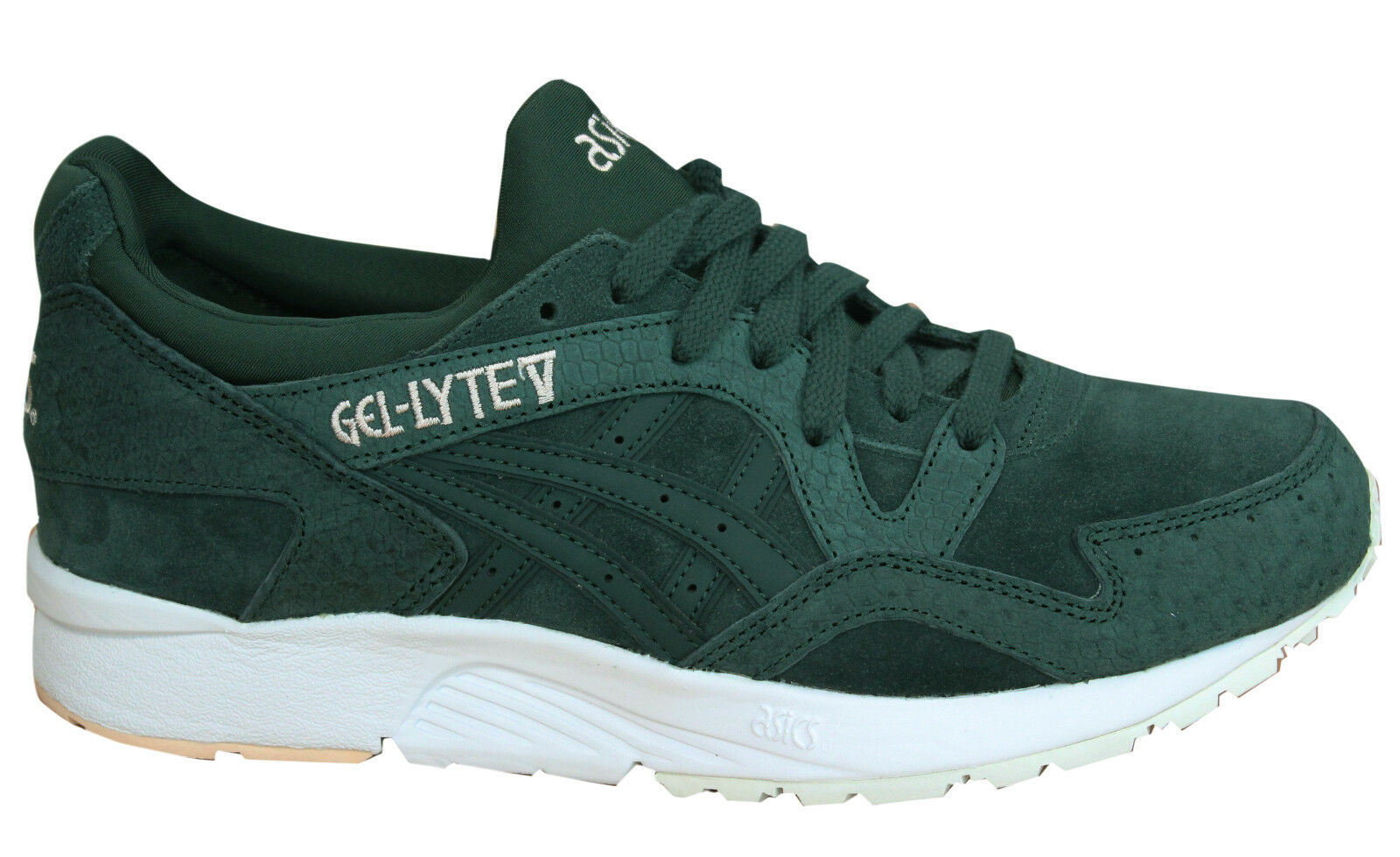 Asics Gel-Lyte V Lace Up blanc vert Leather femmes Trainers HL7DL 8585 M8
