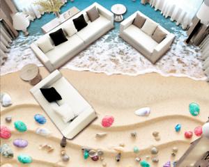 3D color Shells Beach 42 Floor WallPaper Murals Wall Print Decal AJ WALLPAPER US