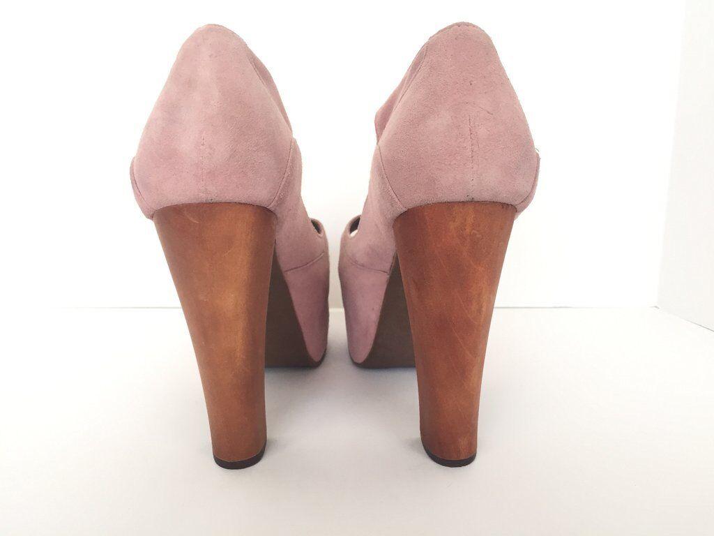 Jefferey Campbell Pink Suede Foxy 10 Platform Sandales Größe 10 Foxy 5a9f06