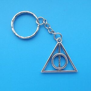 1  Key Ring Deathly Hallows Harry Potter Tibetan Silver Key Chain by Ebay Seller