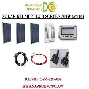 solar panel kit panneau solaire 300w 300 w watt 3 100 w mppt poly 12v rv. Black Bedroom Furniture Sets. Home Design Ideas