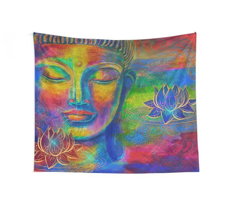 Buddha Wall Tapestry buddha wall art spiritual tapestry spiritual tapestries