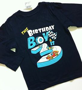 Image Is Loading NEW 3rd Birthday 3 Years Baby Boys Graphic