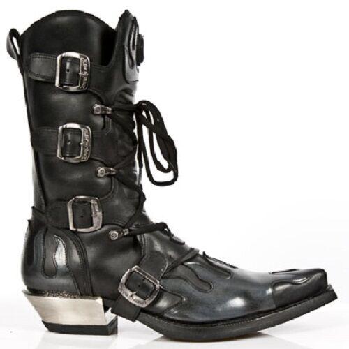 NEW ROCK Cowboystiefel Westernstiefel gothic schwarz 30 tage M.7935-C1