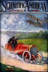 Vintage-American-POSTER-Car-Airplane-Race-Art-Decor-House-Interior-design-787