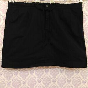Lane-Bryant-Black-Cotton-Skort-Womens-Plus-size-22-Mini-Skirt-Elastic-Waist