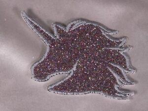 Embroidered-Retro-80s-Rainbow-Glitter-Sparkle-Unicorn-Applique-Patch-Iron-On-Sew
