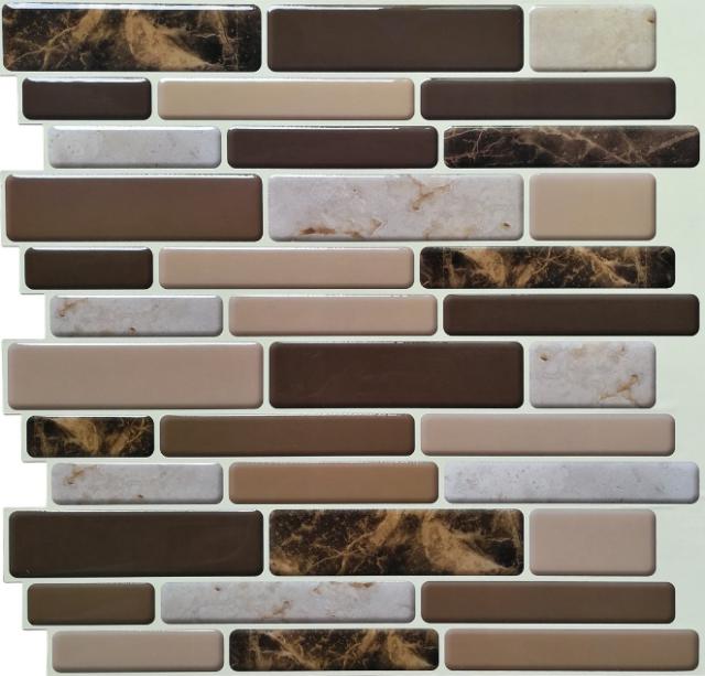 Kitchen Bath Backsplash Tiles Peel and Stick Wall Sticker 12\