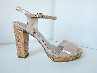 Tamaris Patent Strappy Pumps Nude Beige Size 39 Sandal Sandals Patent myggia | eBay