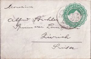 Egypt-Africa-2-Old-Post-Covers-with-Watermarks-1-CD-Zurich-Switzerland-amp-Unknown