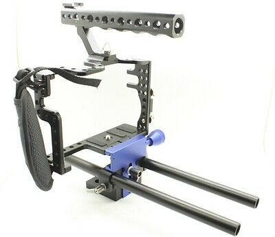 DDSLR quick release Baseplate Cage For Panasonic Lumix GH4 GH3 Height adjustable