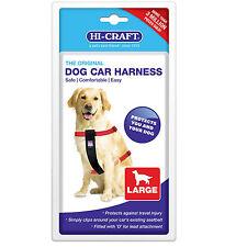 Dog Car Harness Hi-Craft Safety Seat Belt Travel Pet Restraint Adjustable Large