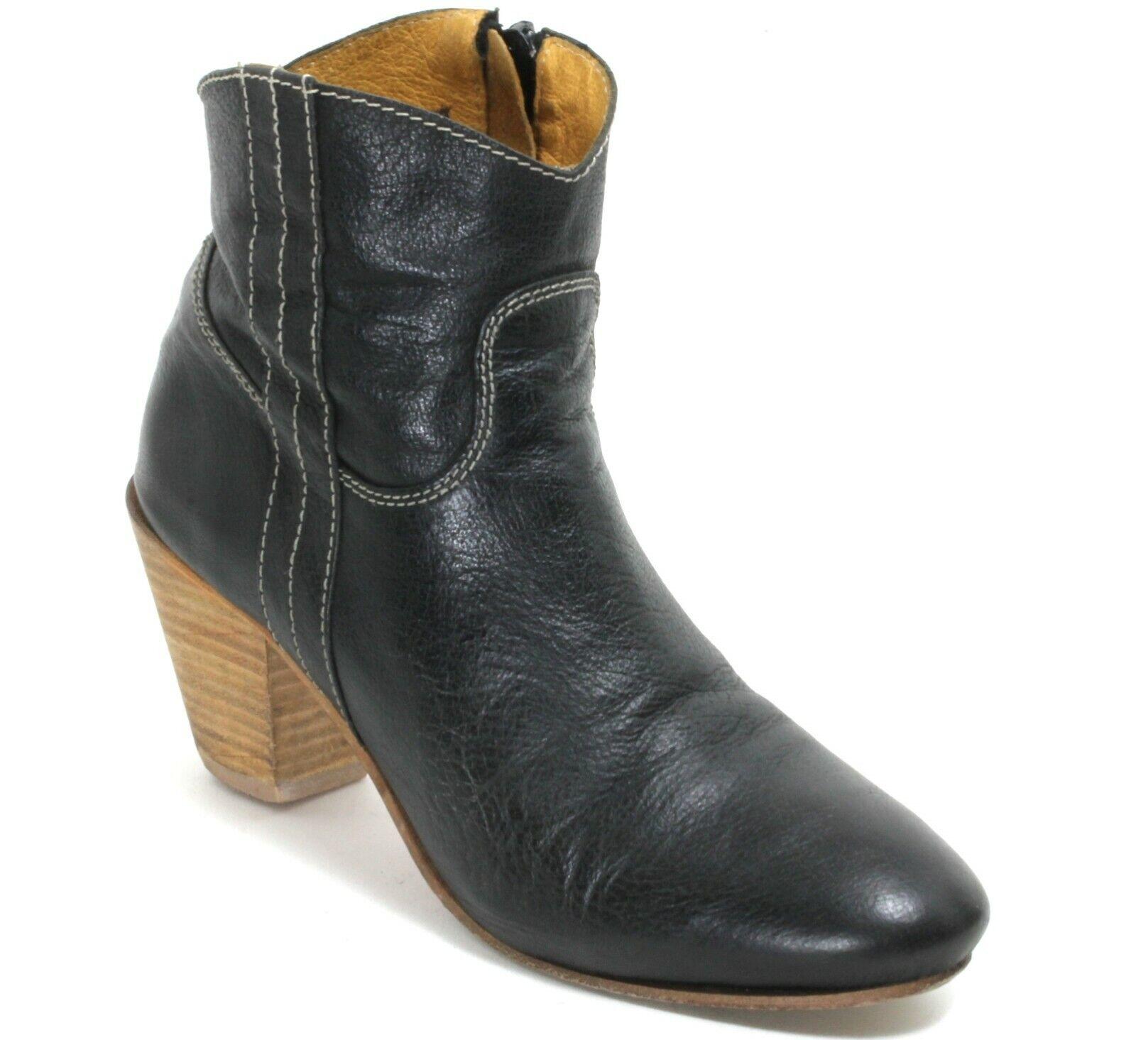 Bottes Femmes Vintage Bottine Chaussures Basses Chelsea Zipper DMN Western Chaussures 40