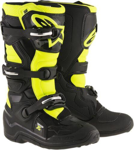 Alpinestars Youth Tech 7S Boots 8 Black//Yellow 2015017-155-8