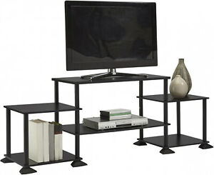 TV-Stand-Entertainment-Center-Media-Console-Furniture-Wood-Storage-Cabinet-Black