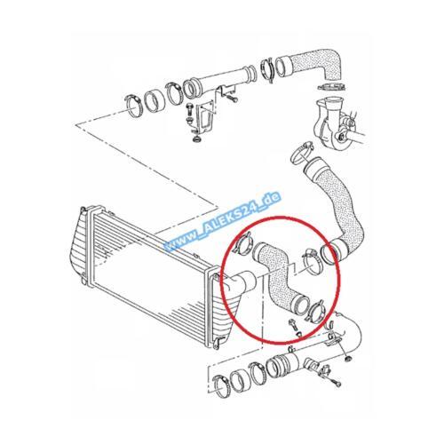 TUBO dell/'aria di aria tubo flessibile VW LT II 28-46 bus riquadro 2,5 TDI 2db 2de