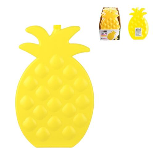 PP Pain de Glace Ananas 14 x 1,5 x 22 cm  Exotic Summer Rechargeable Jaune