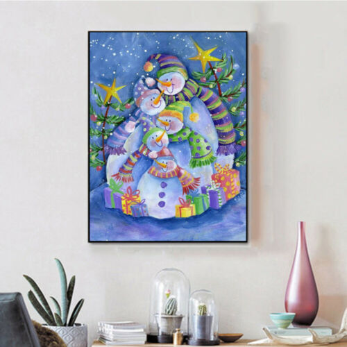 Christmas Gift Snowman Family 5D Diamond Painting Kits Full Drill Home Decor DIY