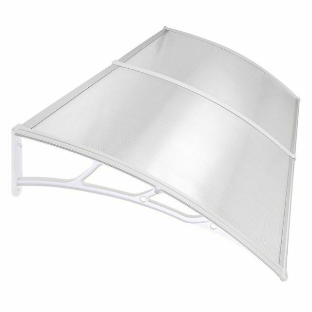 Sun Shade Canopy Awning For Windows Doors 40 80 Polycarbonate Clear Hollow Sheet For Sale Online Ebay