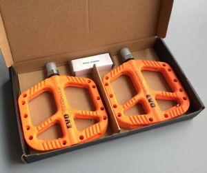 Polyamide Road XC MTB Bike Bearing Cycling Pedals Flat Bicycle Pedal Orange
