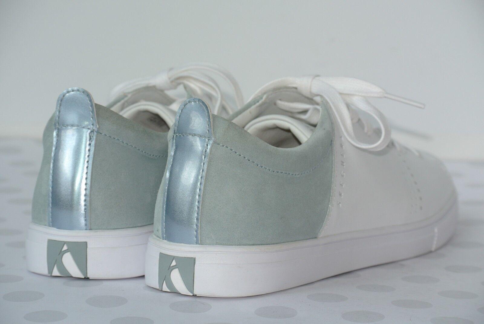 NEW Skechers Moda Moda Moda Clean Street femmes  Sz 6.5  blanc gris  Leather Sneakers 73480 0667ee