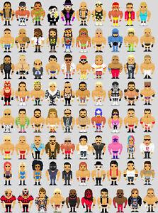 PixelArt-Wrestling-Legends-Print-Undertaker-Vader-Steve-Austin-Kane-8x10-WWF-WCW