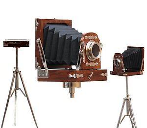Vintage-Wooden-Camera-Nautical-Film-Model-Photography-Floor-standing-tripod