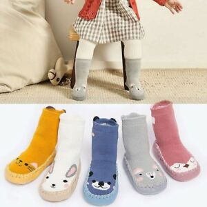 Baby Kid Toddler Cartoon Anti-slip Sock Shoes Boots Floor Slipper Boy Socks LA