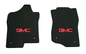 New Black Front Floor Mats 2007 2010 Yukon Denali Pair