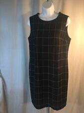 NEW Ralph Lauren Dress Women SZ 8 Black Cream Lamb Leather Trim Retail $155 NWT