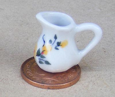 1:12 Scala Giallo Floreale Brocca In Ceramica Casa Delle Bambole Accessorio Cucina Bevande Y25-mostra Il Titolo Originale Volume Grande