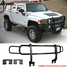 03-09 Hummer H3 H2 H2T SUT SUV Front Black Guard Brush Grille Grill Double Bars