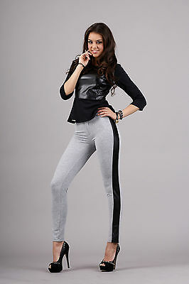 Sexy Women's Skinny Trousers Full Lenght Stretchy Leggings Eco Leather FA283